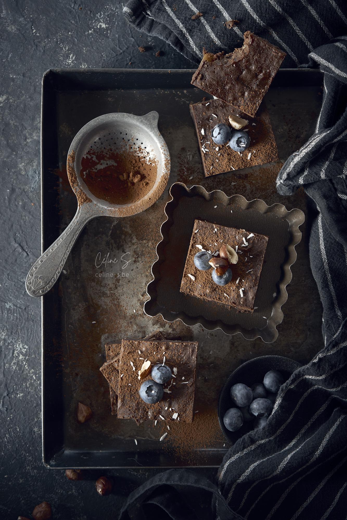 Céline Stiévenard - food photo - photographe et styliste culinaire - photo de gateau browie au chocolat - Liège, Belgique
