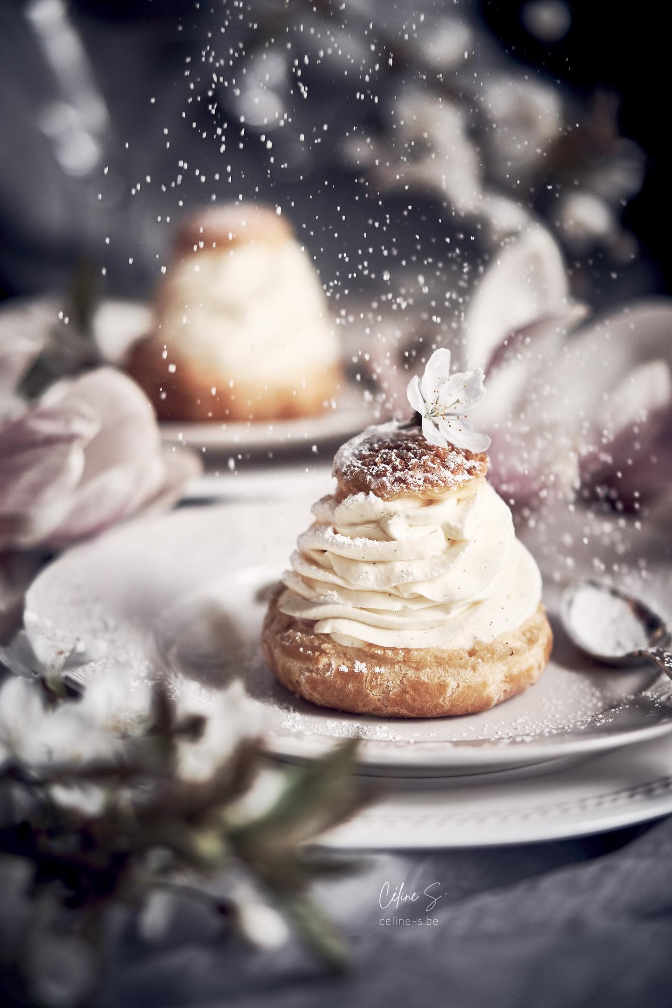 Céline Stiévenard - food photography - photographe et styliste culinaire - photo et recette de choux à la crème de mascarpone et ricotta - Liège, Belgique