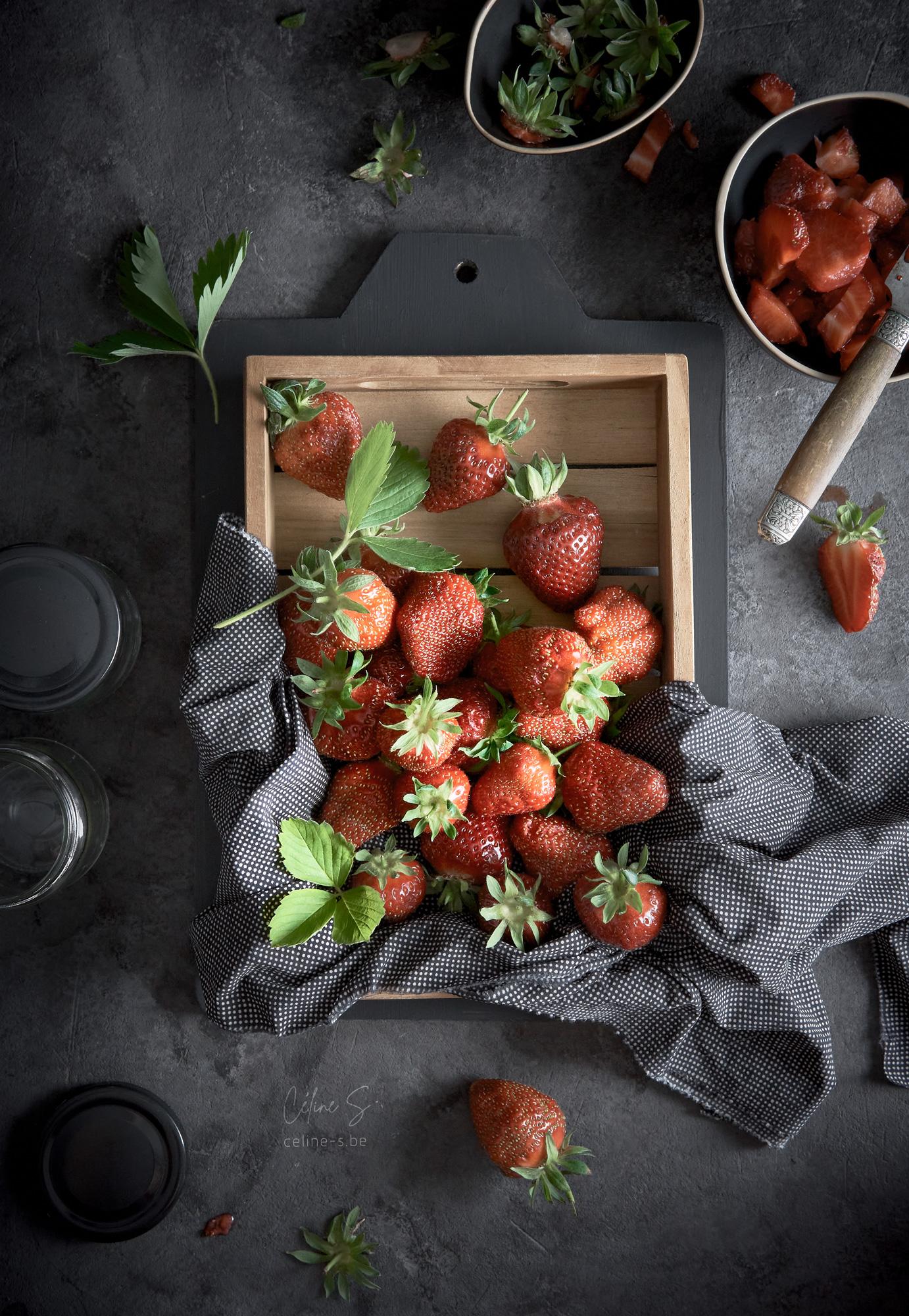 Céline Stiévenard - Photo de panier de fraises- styliste culinaire food - création de photo food - Liège, Belgique